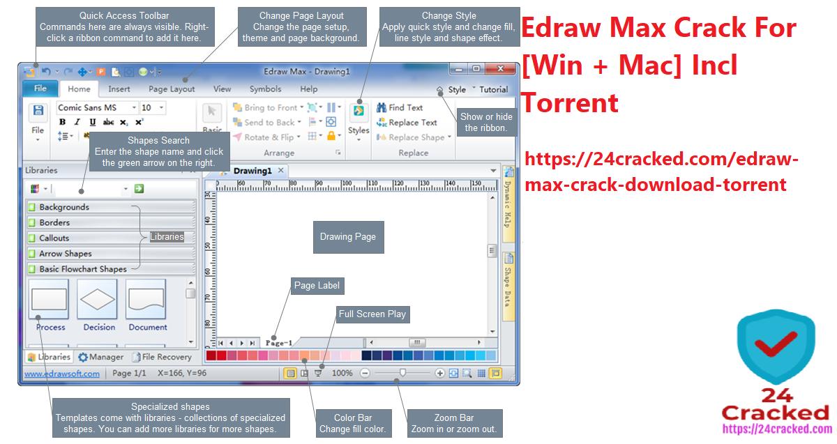 Edraw Max Crack For [Win + Mac] Incl Torrent