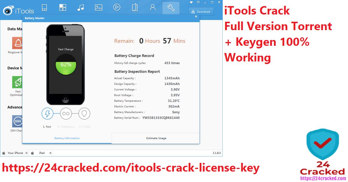 iTools Crack Full Version Torrent + Keygen Download