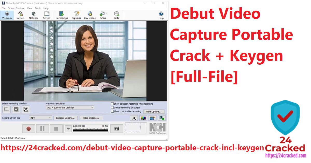 Debut Video Capture Portable Crack + Keygen [Full-File]