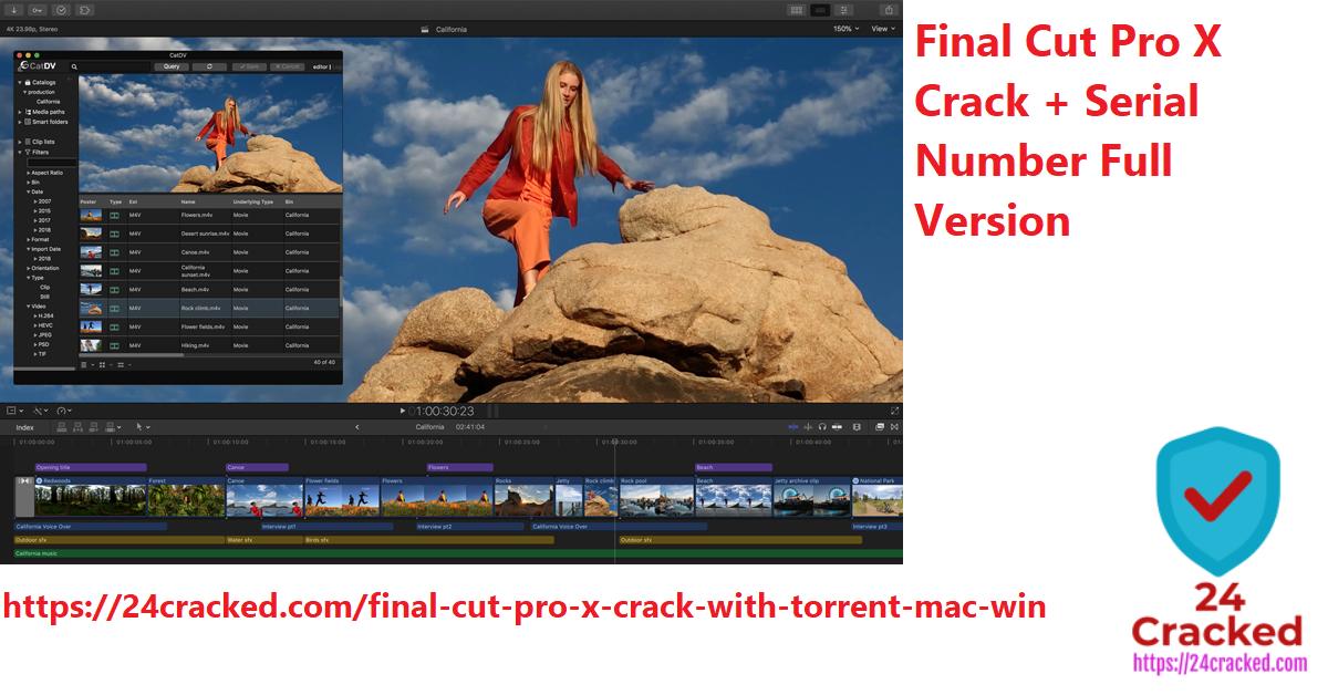 Final Cut Pro X Crack + Serial Number Full Version