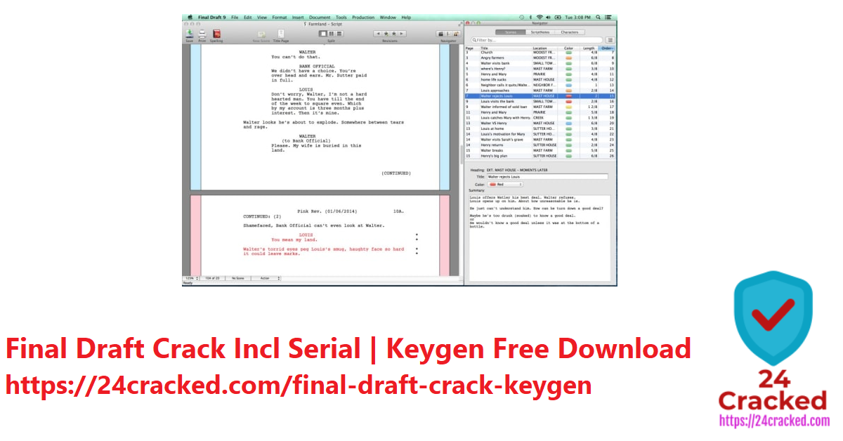 Final Draft Crack Incl Serial Keygen Free Download