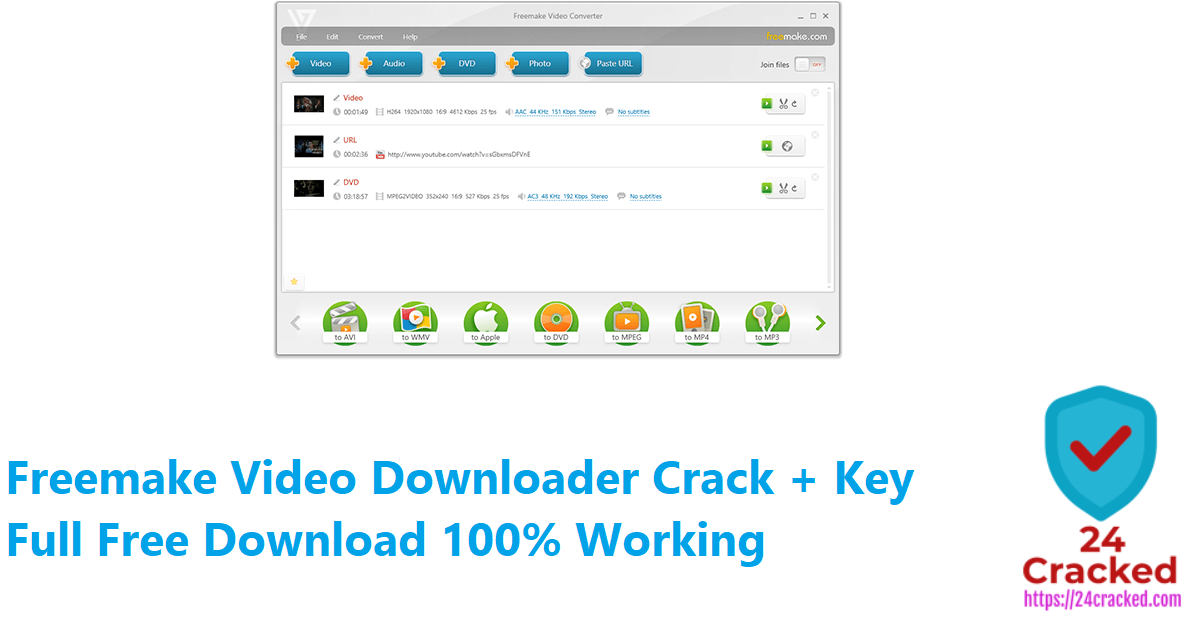 Freemake Video Downloader Crack + Key Full Free Download 100% Working