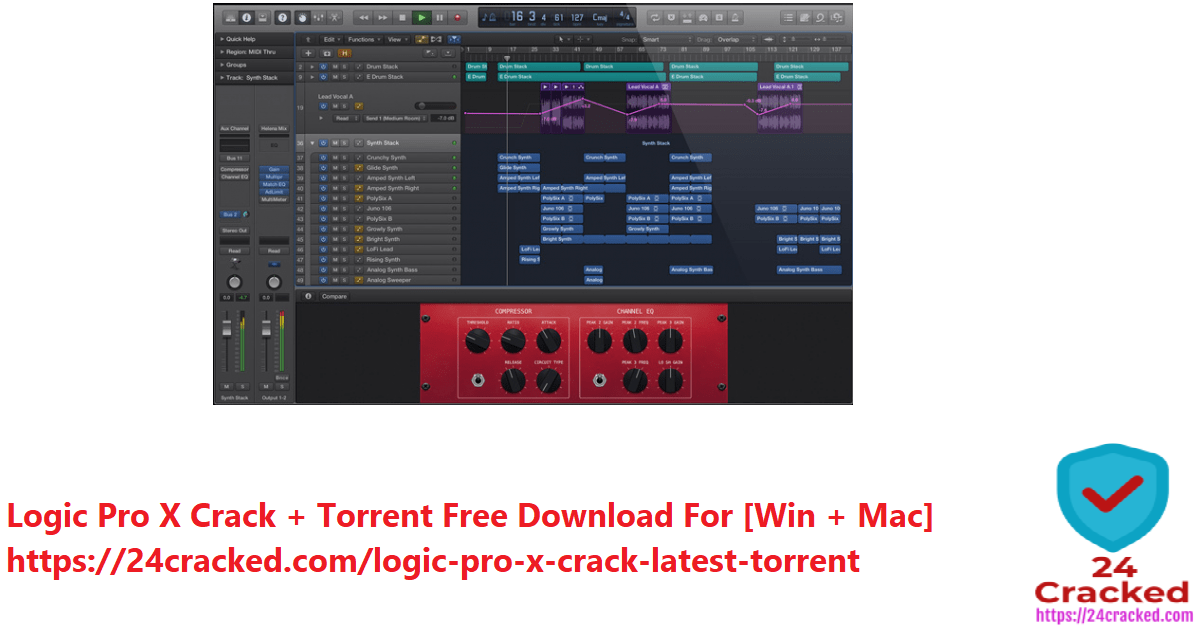 Logic Pro X Crack + Torrent Free Download For [Win + Mac]