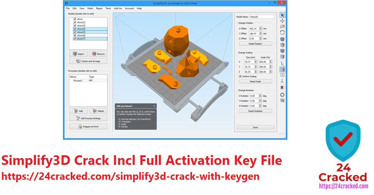 Simplify3D Crack Incl Full Activation Key File