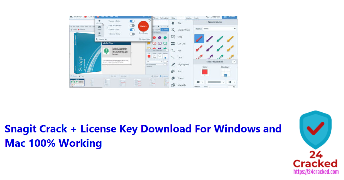 Snagit Crack + License Key Download For Windows and Mac 100% Working