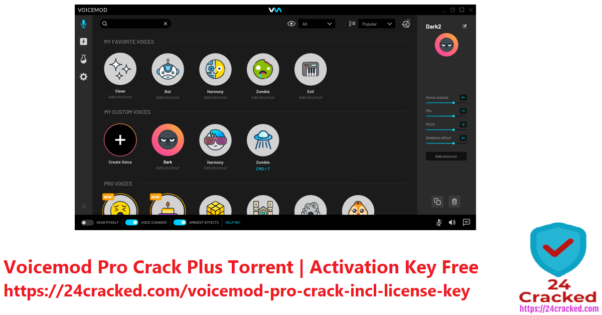 Voicemod Pro Crack Plus Torrent Activation Key Free
