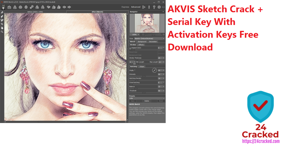 AKVIS Sketch Crack + Serial Key With Activation Keys Free Download