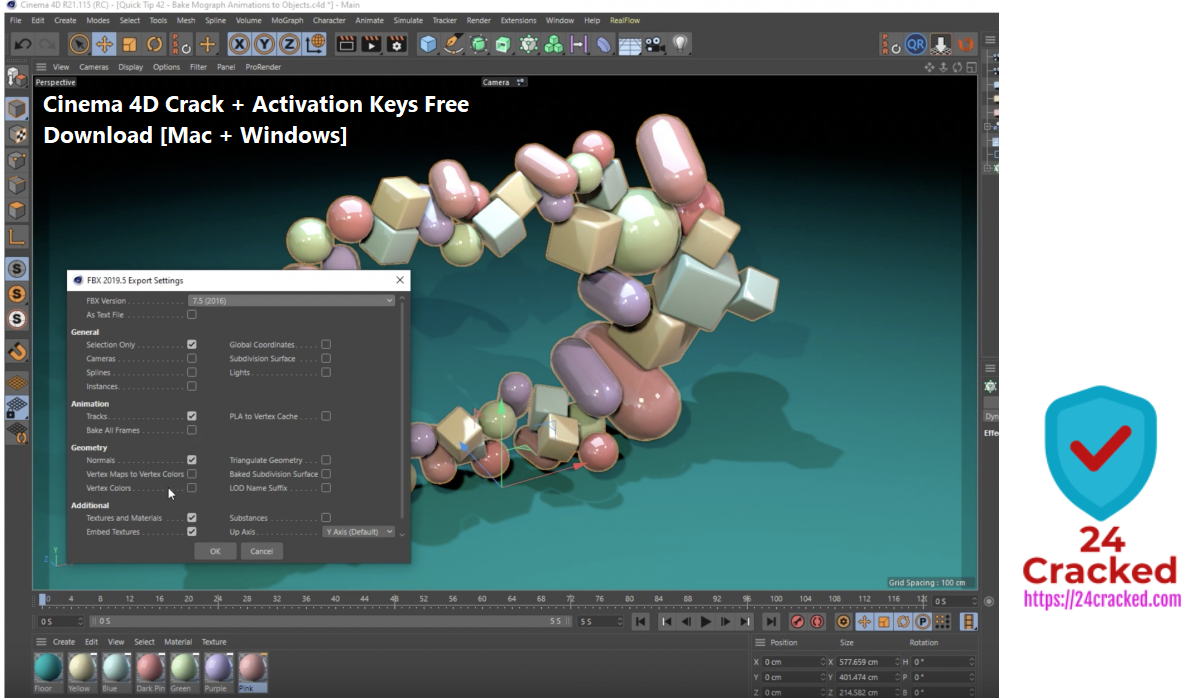 Cinema 4D Crack + Activation Keys Free Download [Mac + Windows]