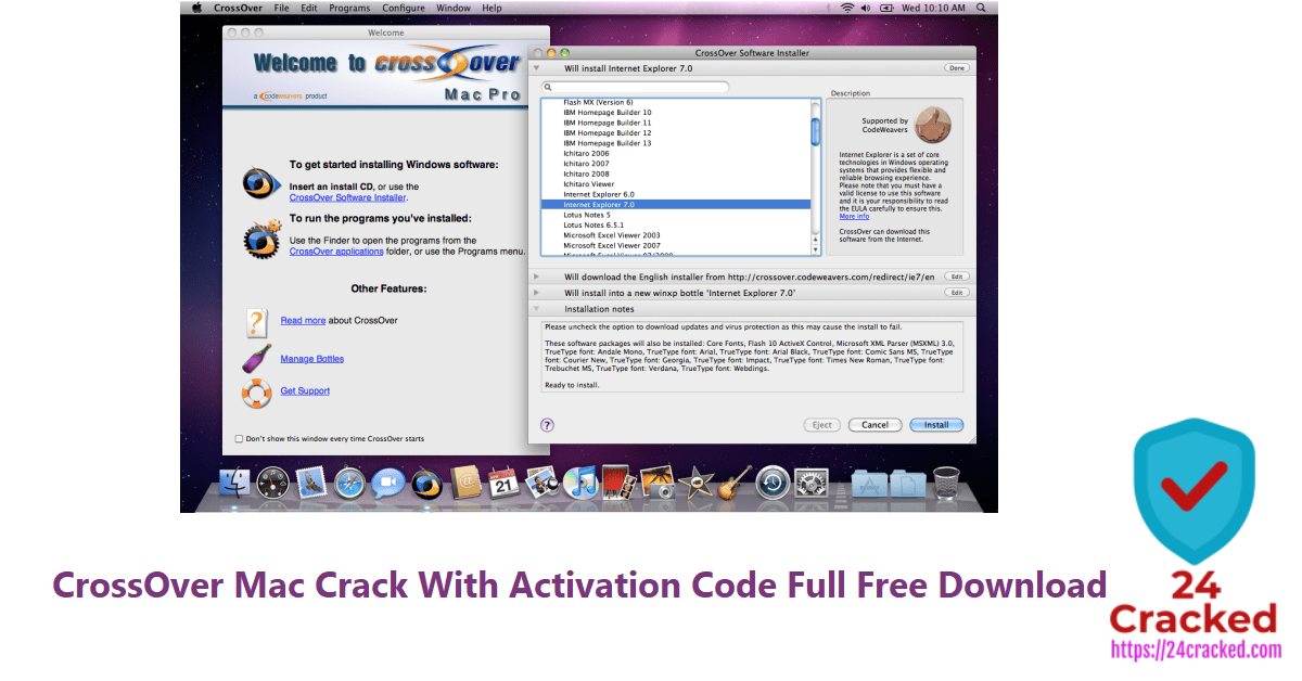 CrossOver Mac Crack With Activation Code Full Free Download