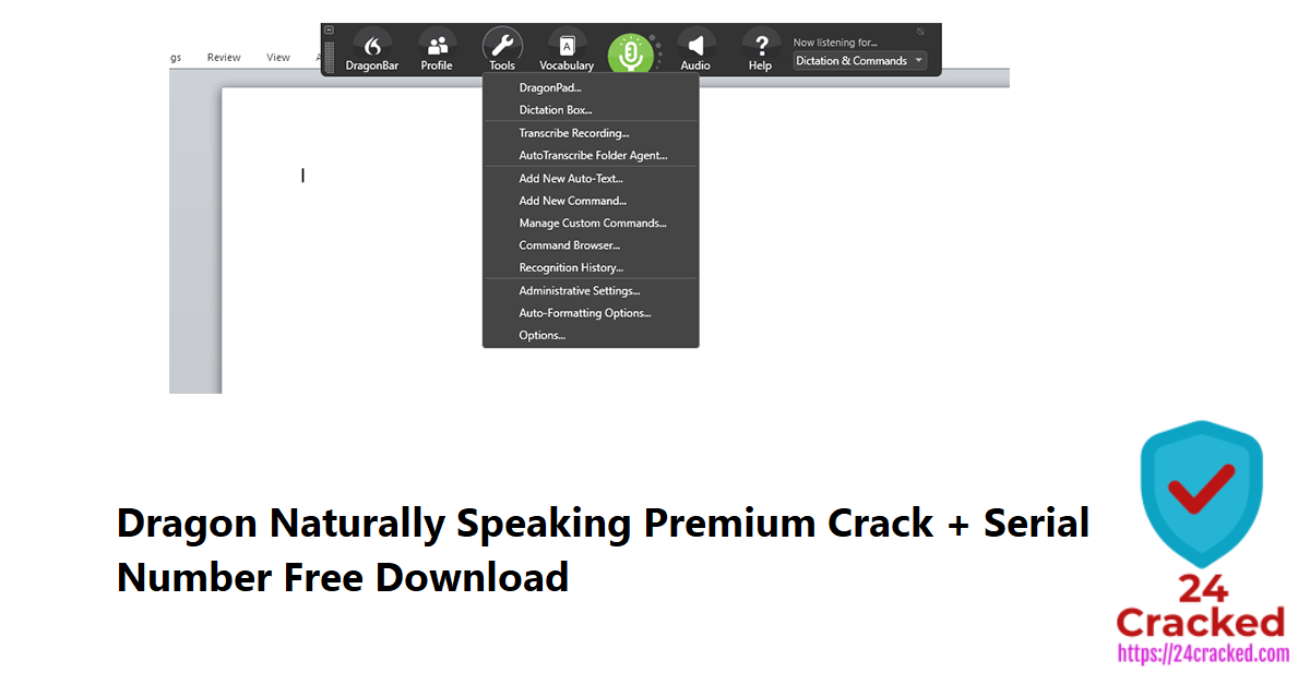 Dragon Naturally Speaking Premium Crack + Serial Number Free Download