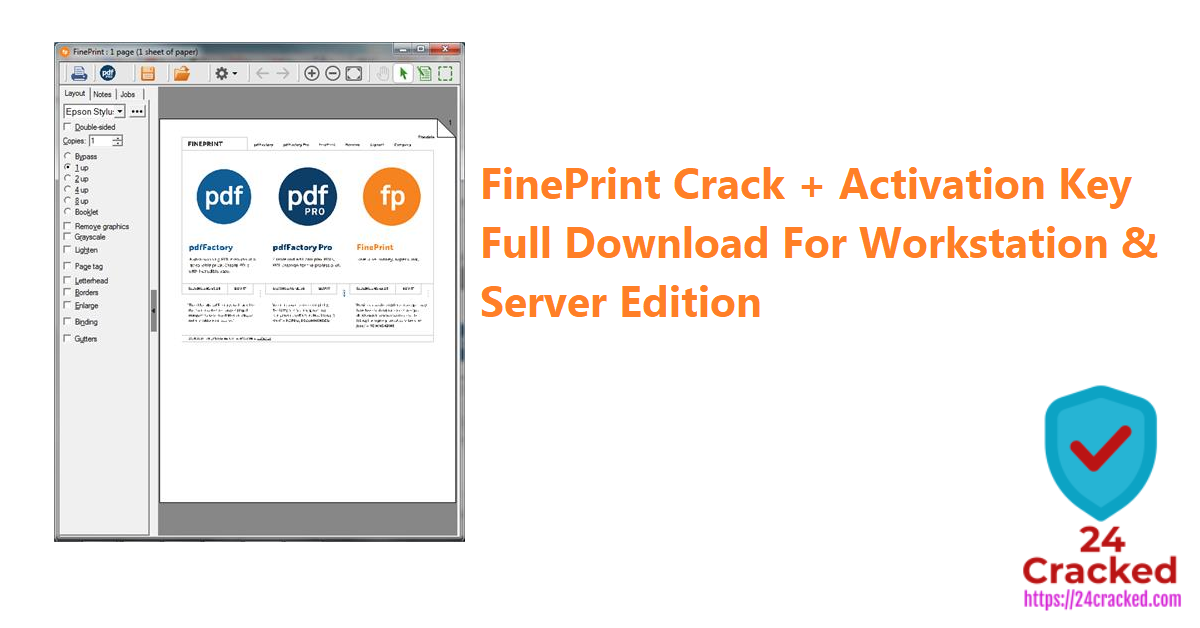 FinePrint Crack + Activation Key Full Download For Workstation & Server Edition