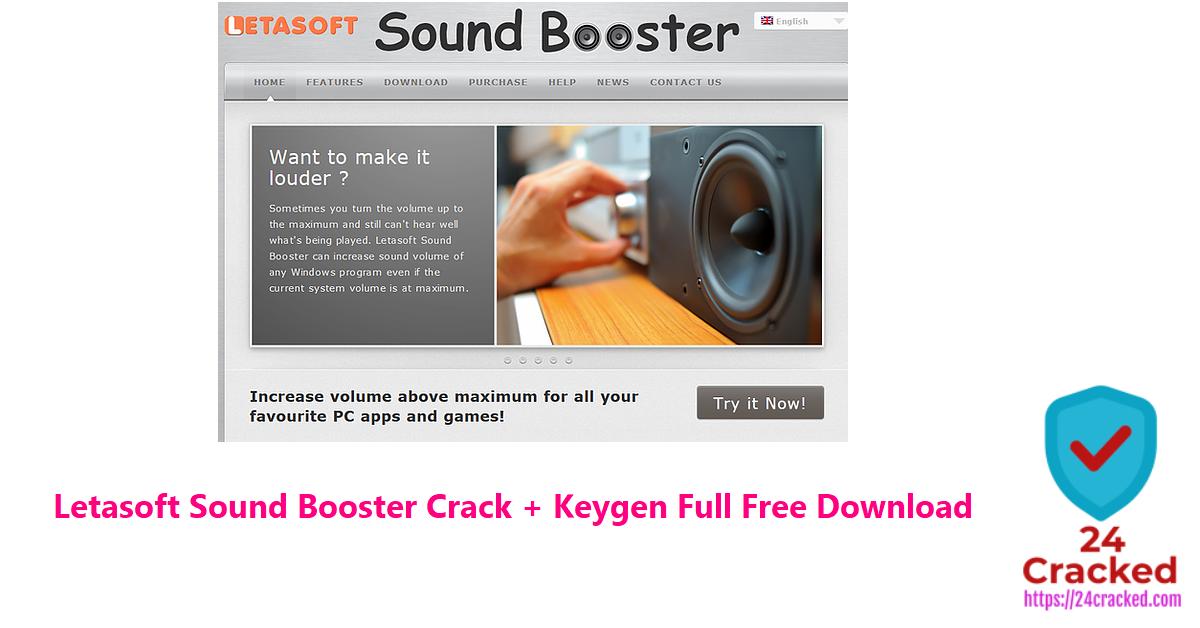 Letasoft Sound Booster Crack + Keygen Full Free Download