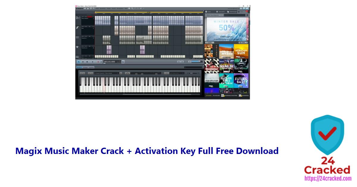 Magix Music Maker Crack + Activation Key Full Free Download