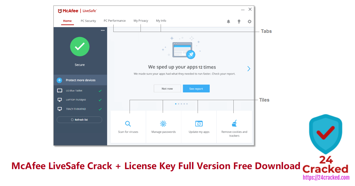 McAfee LiveSafe Crack + License Key Full Version Free Download