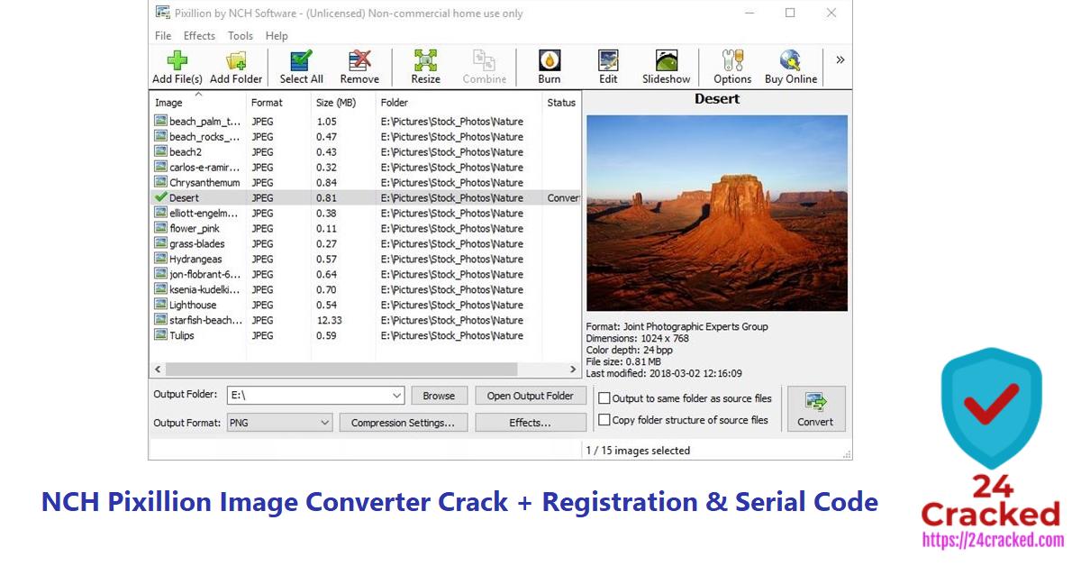 NCH Pixillion Image Converter Crack + Registration & Serial Code