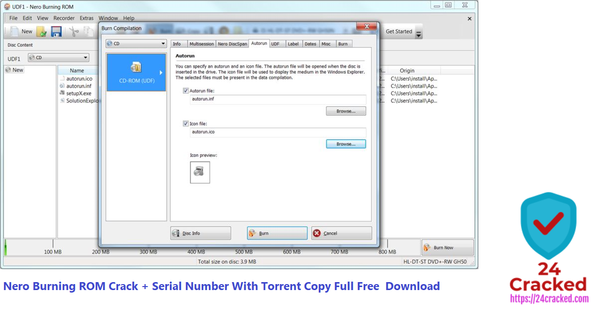 Nero Burning ROM Crack + Serial Number With Torrent Copy Full Free Download