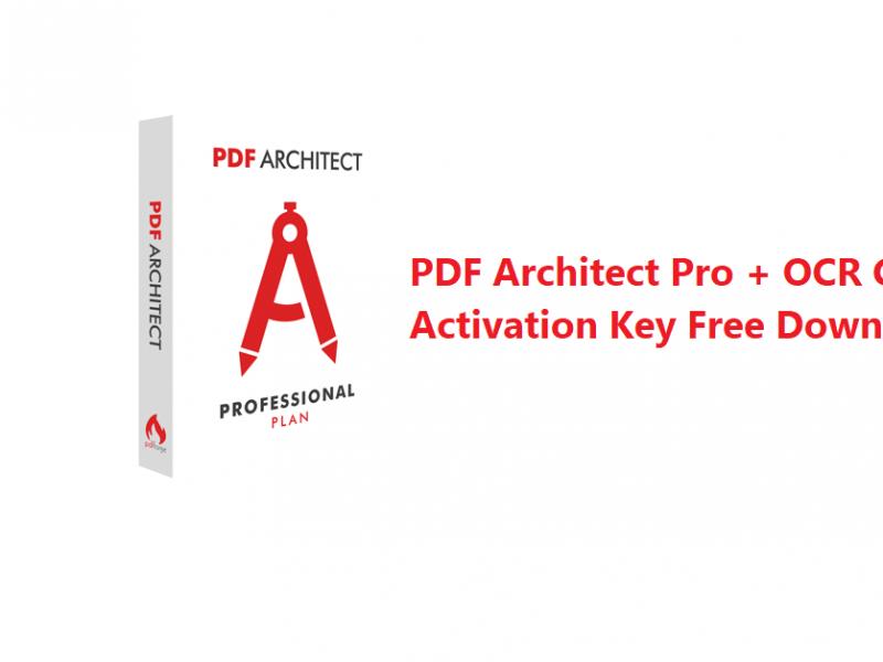 PDF Architect Pro + OCR Crack + Activation Key Free Download