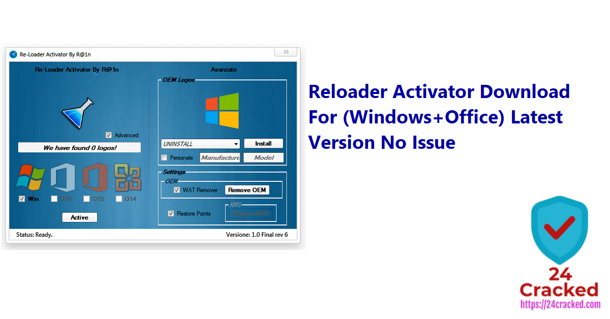 Reloader Activator Download For (Windows+Office) Latest Version No Issue