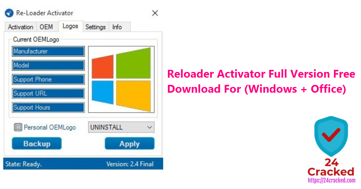 Reloader Activator Full Version Free Download For (Windows + Office)