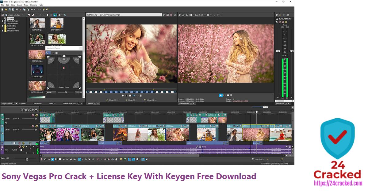 Sony Vegas Pro Crack + License Key With Keygen Free Download