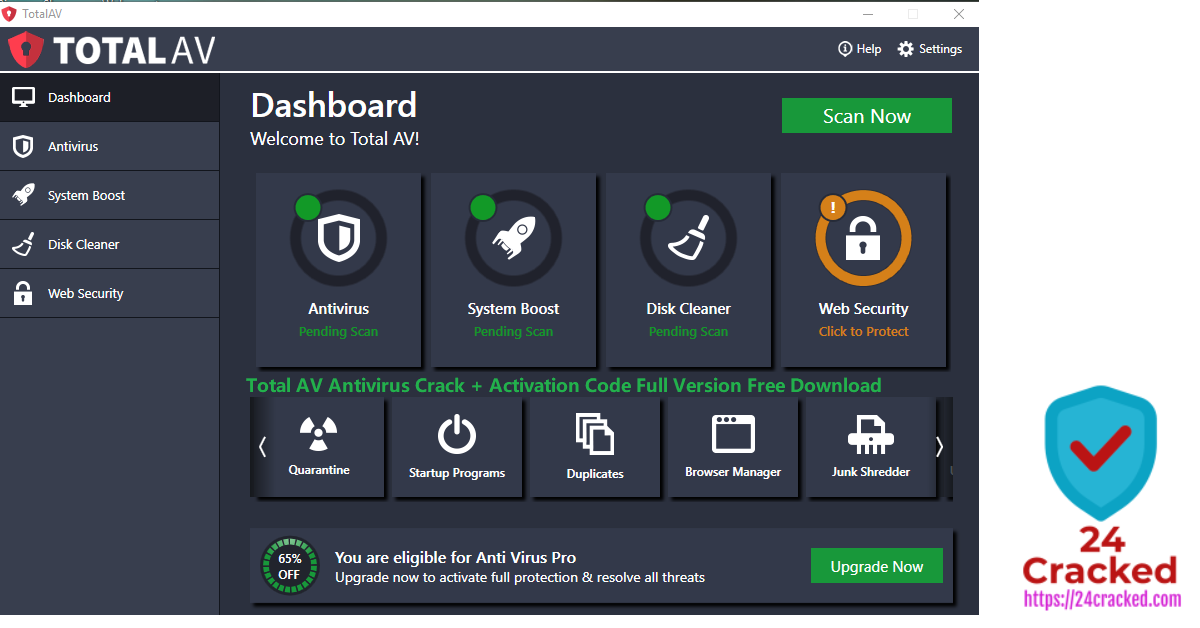 Total AV Antivirus Crack + Activation Code Full Version Free Download