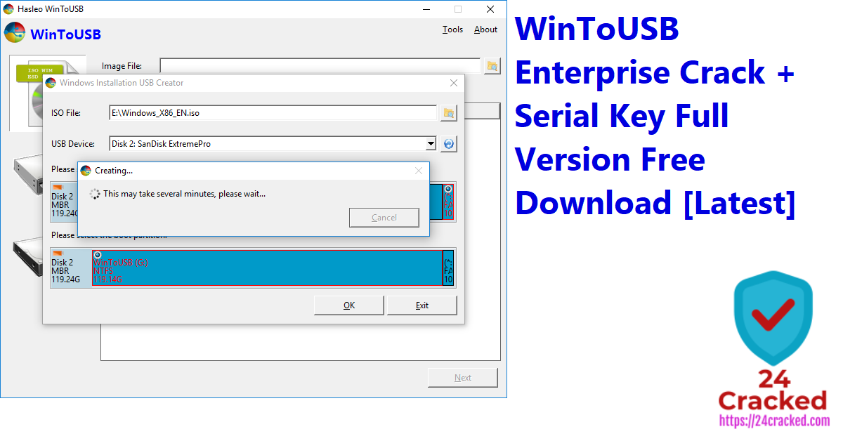 WinToUSB Enterprise Crack + Serial Key Full Version Free Download [Latest]