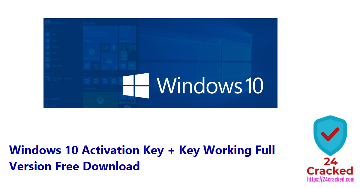 Windows 10 Activation Key + Key Working Full Version Free Download