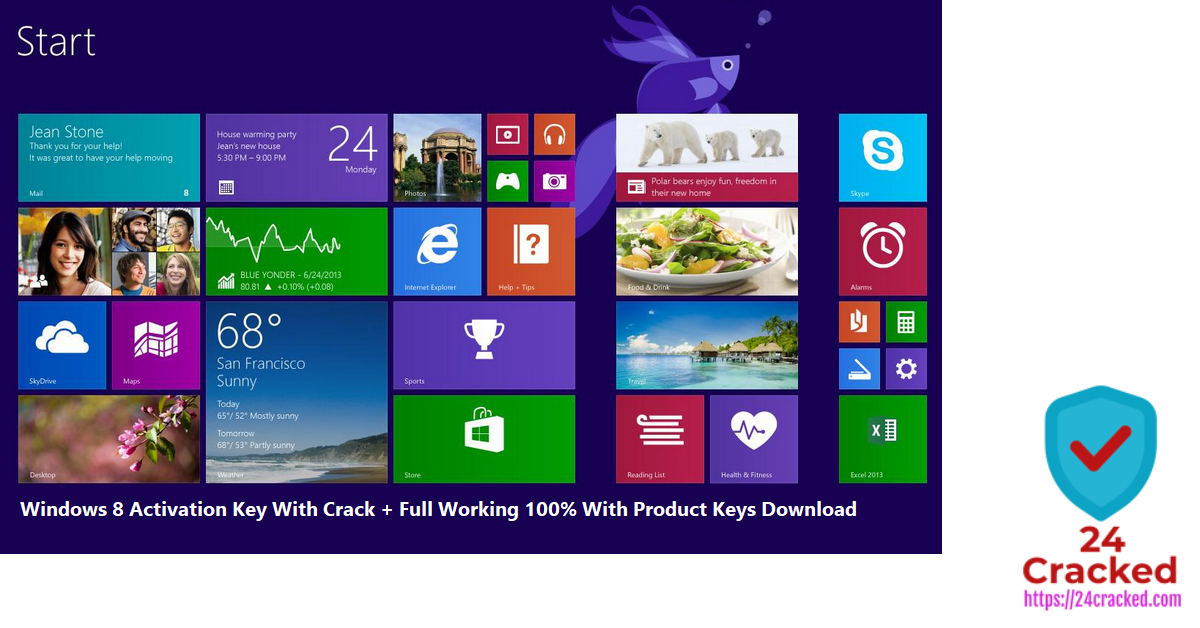 Windows 8 Activation Key With Crack + Full Working 100% With Product Keys Download