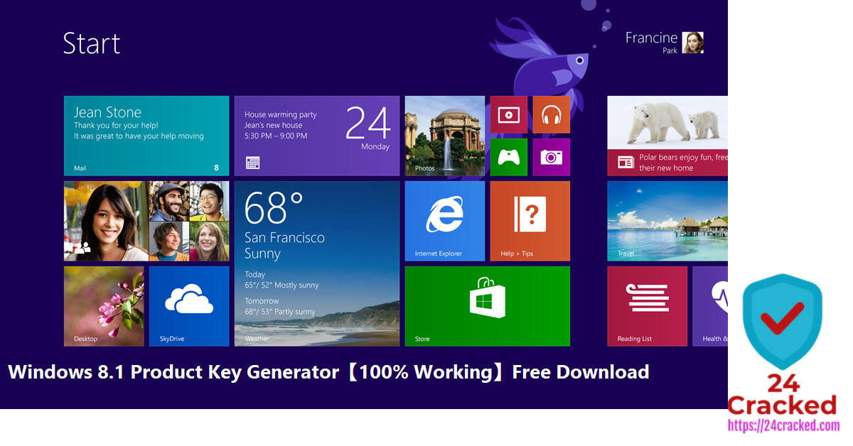 Windows 8.1 Product Key Generator【100% Working】Free Download