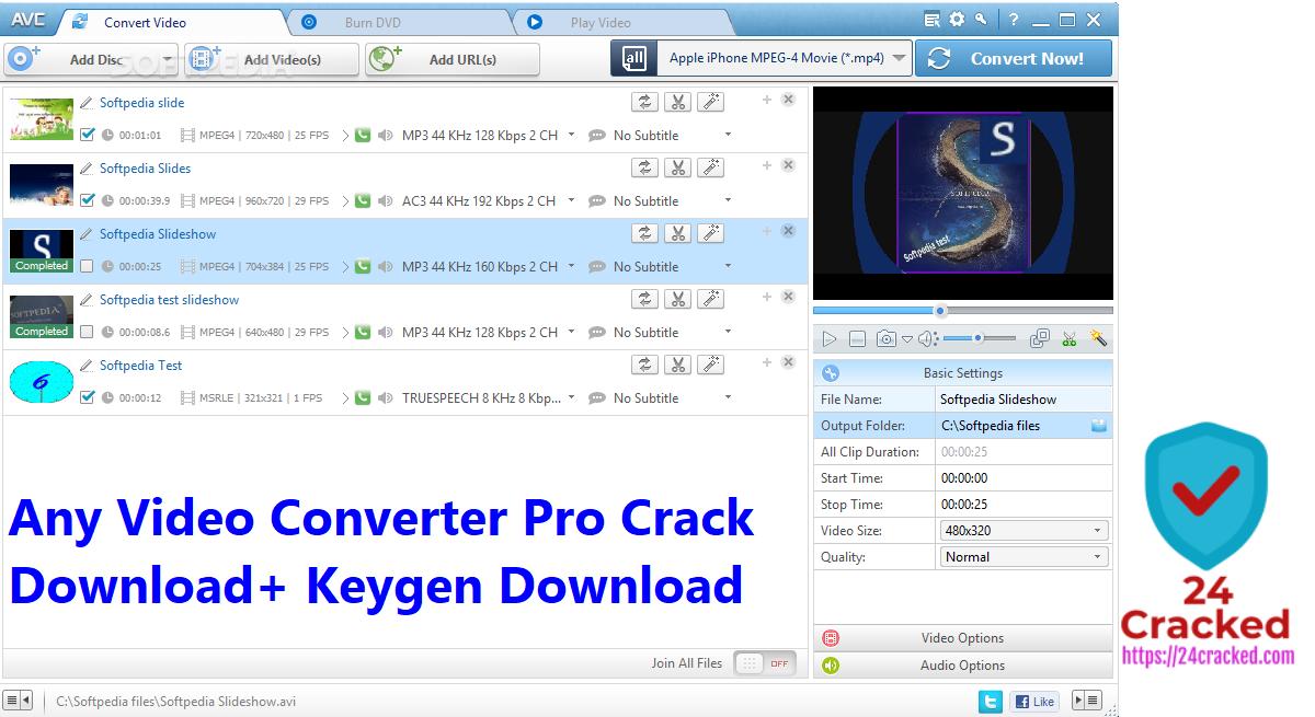 Any Video Converter Pro Crack Download+ Keygen Download