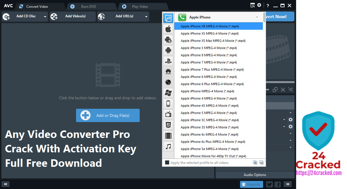 Any Video Converter Pro Crack With Activation Key Full Free Download