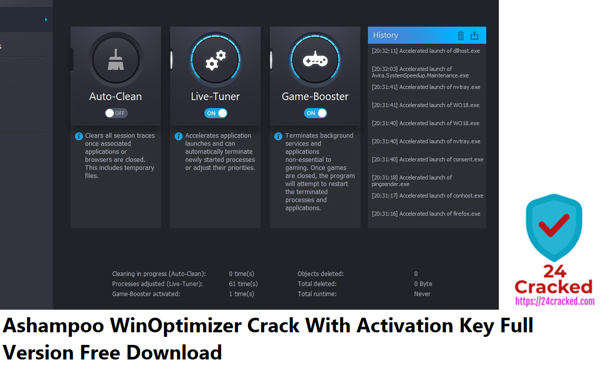 Ashampoo WinOptimizer Crack With Activation Key Full Version Free Download