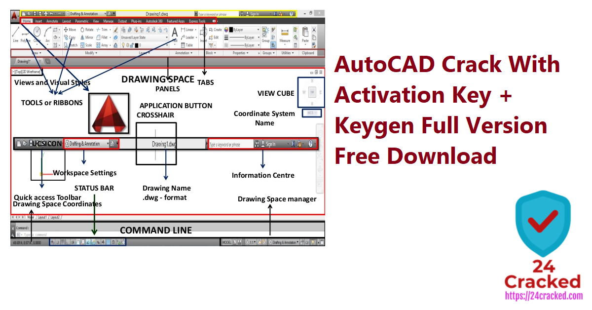 AutoCAD Crack With Activation Key + Keygen Full Version Free Download