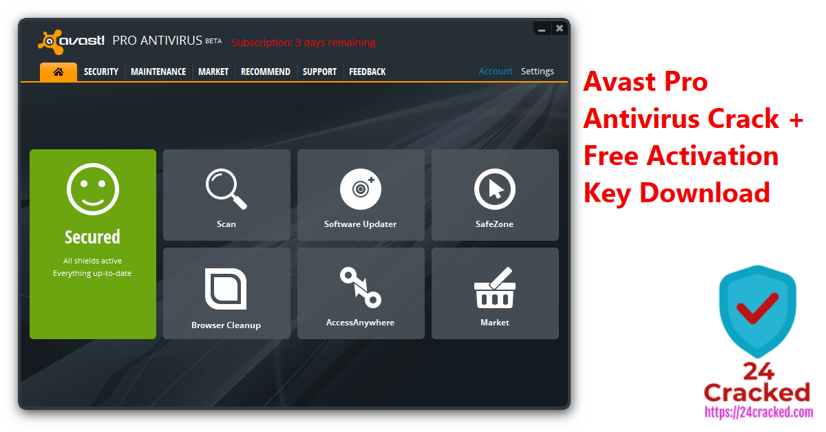 Avast Pro Antivirus Crack + Free Activation Key Download