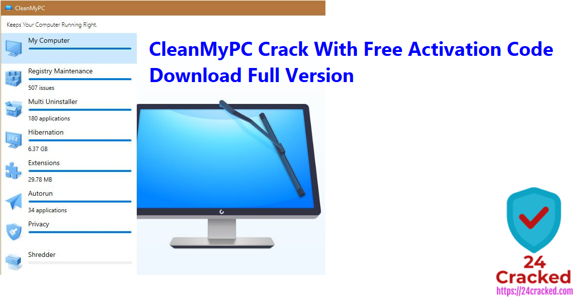 CleanMyPC Crack With Free Activation Code Download Full Version
