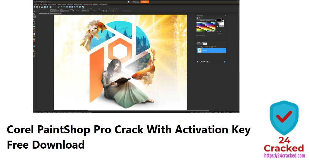 Corel PaintShop Pro Crack With Activation Key Free Download