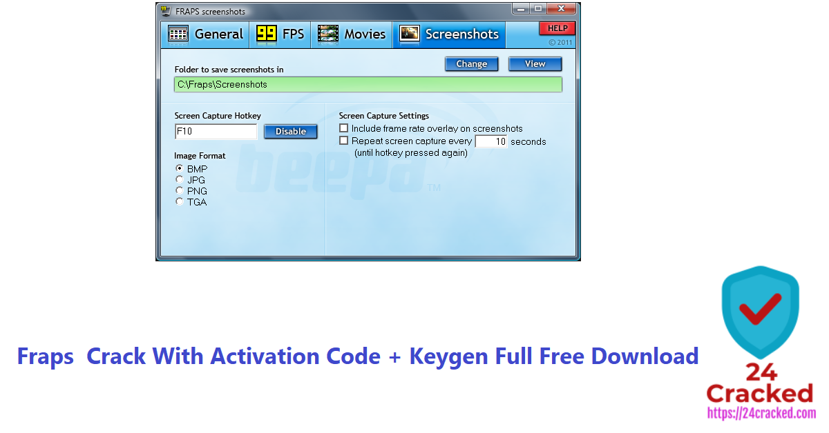 Fraps Crack With Activation Code + Keygen Full Free Download