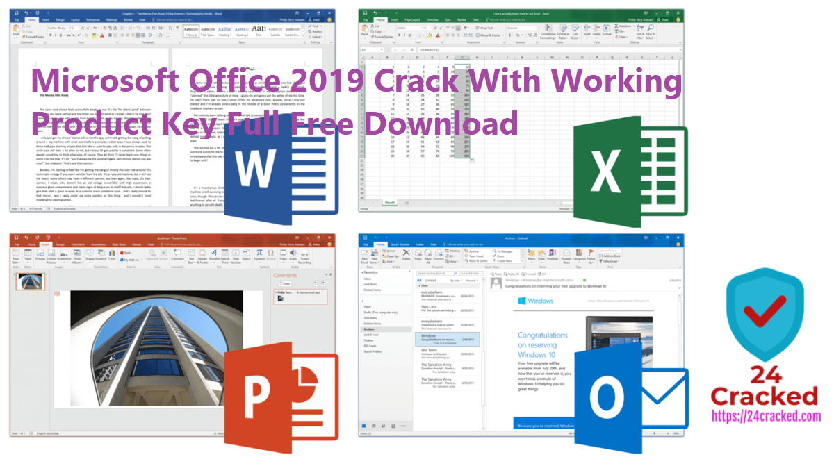 Microsoft Office 2019 Crack With Working Product Key Full Free Download