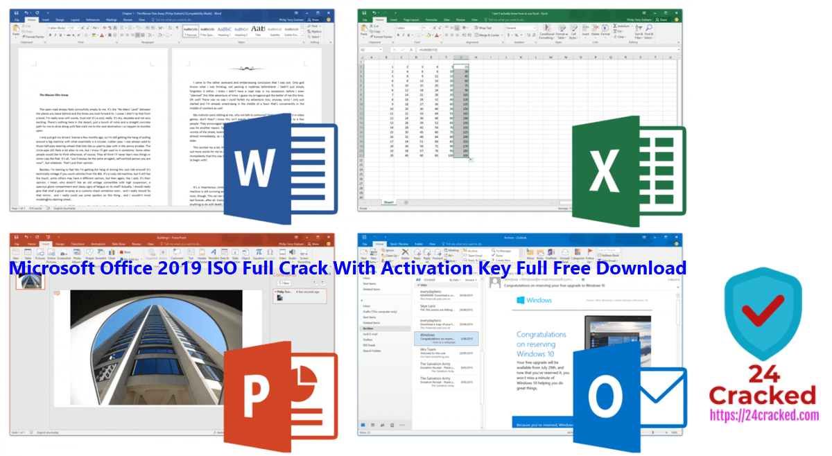 Microsoft Office 2019 ISO Full Crack With Activation Key Full Free Download