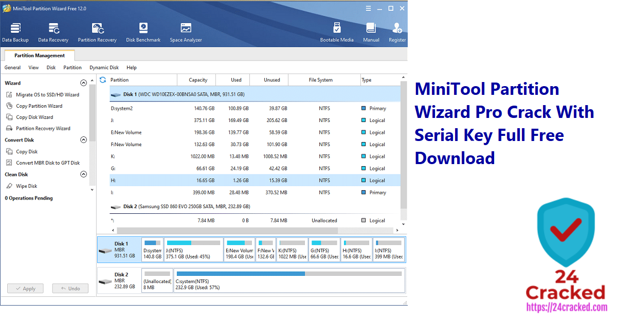 MiniTool Partition Wizard Pro Crack With Serial Key Full Free Download