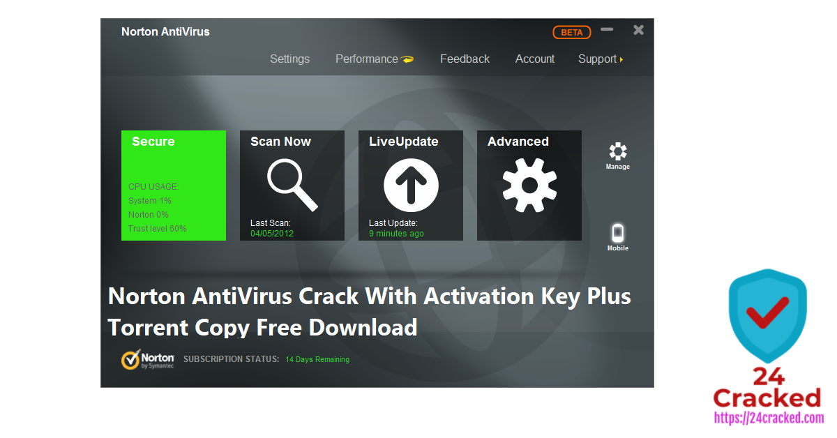 Norton AntiVirus Crack With Activation Key Plus Torrent Copy Free Download