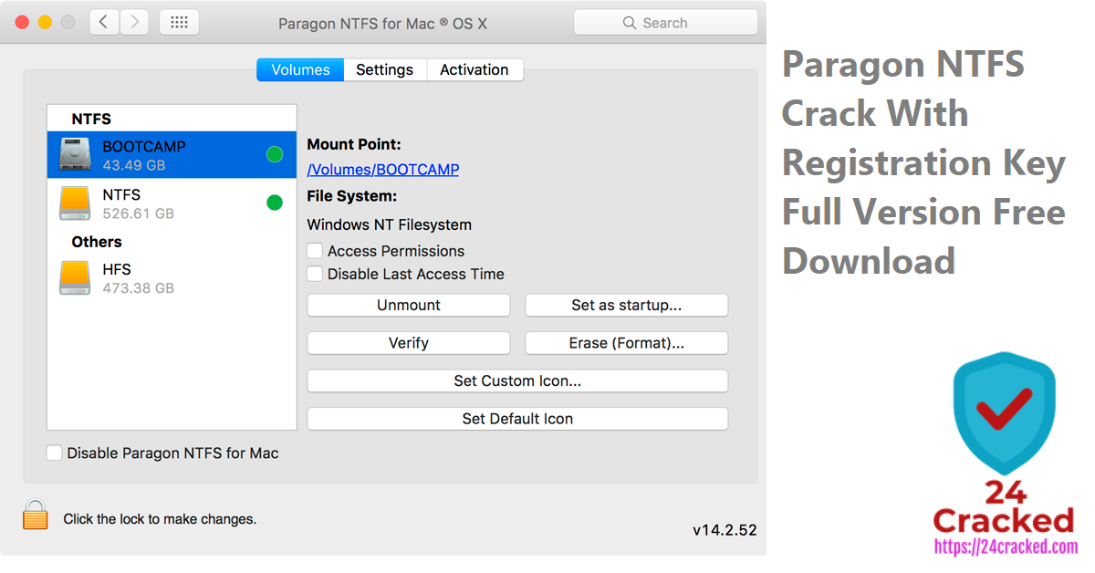 Paragon NTFS Crack With Registration Key Full Version Free Download