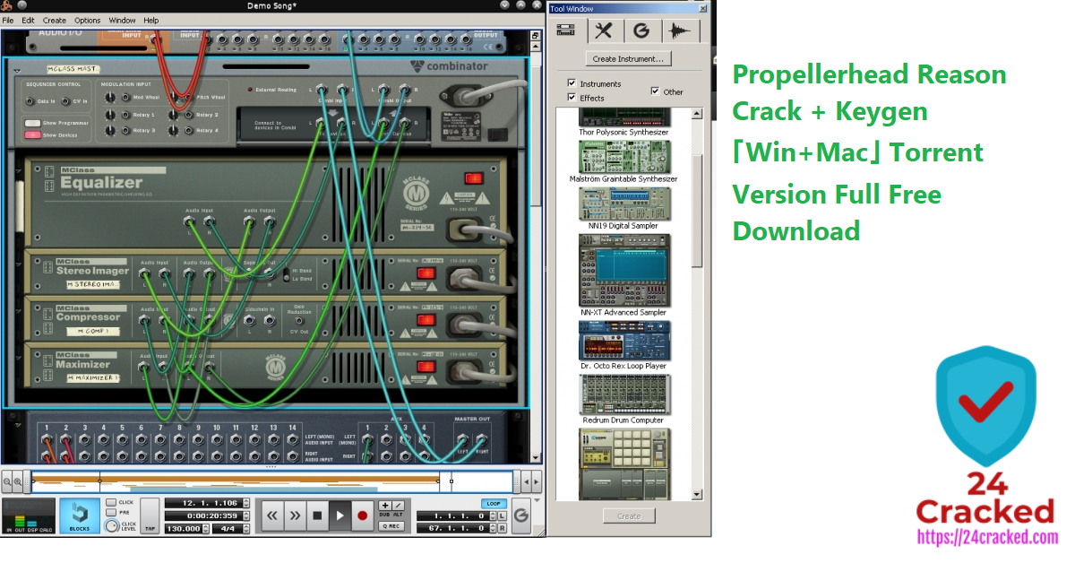 Propellerhead Reason Crack + Keygen 「Win+Mac」 Torrent Version Full Free Download