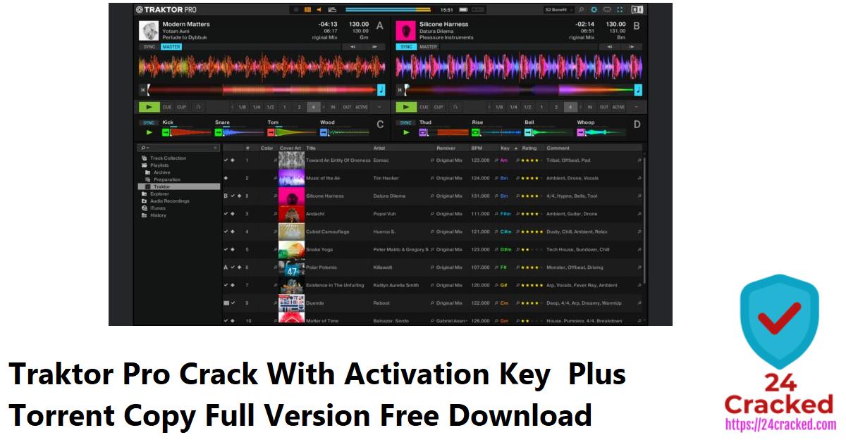 Traktor Pro Crack With Activation Key Plus Torrent Copy Full Version Free Download