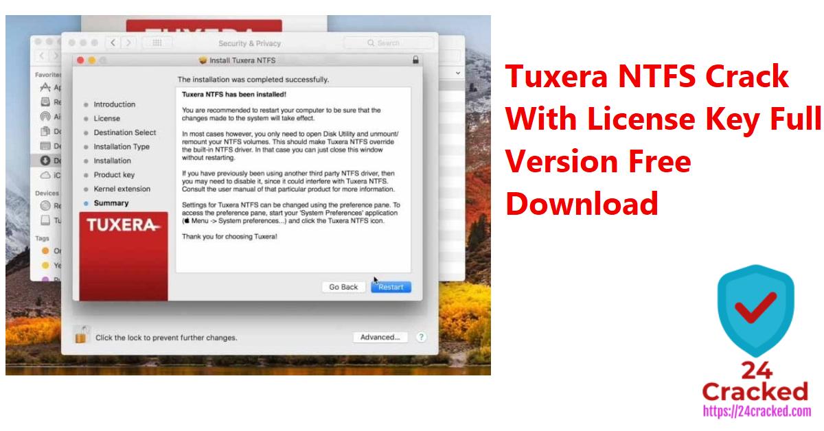 Tuxera NTFS Crack With License Key Full Version Free Download