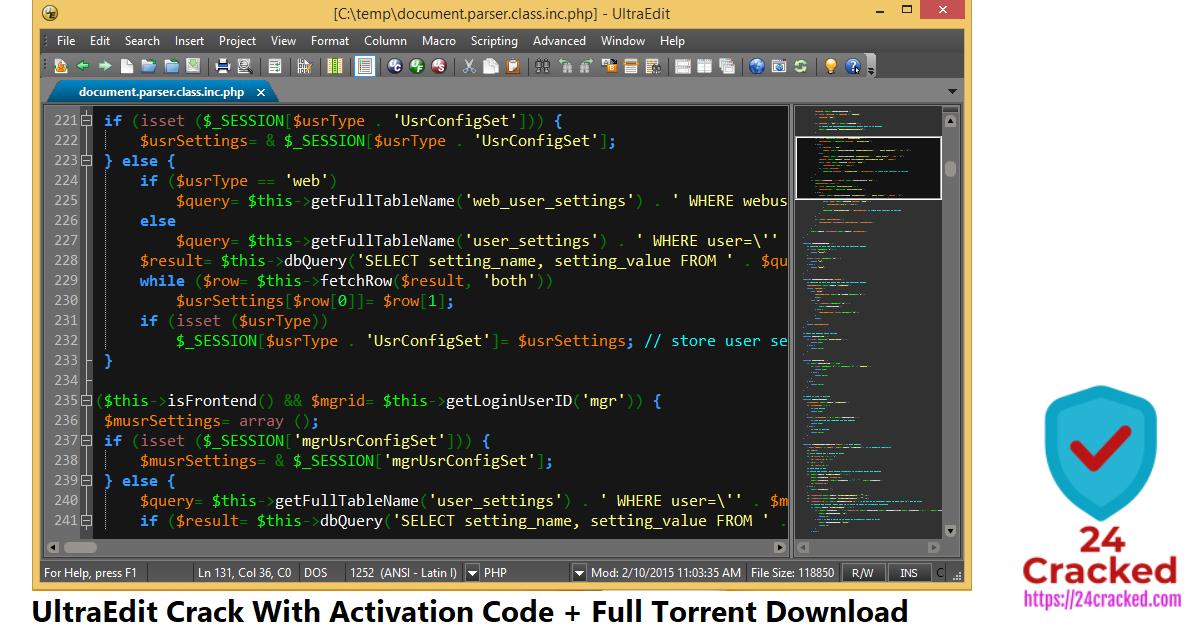 UltraEdit Crack With Activation Code + Full Torrent Download