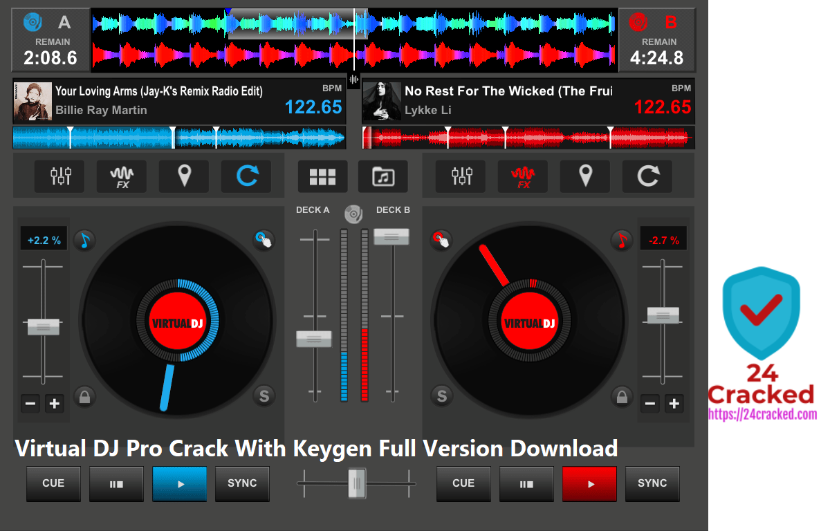 Virtual DJ Pro Crack With Keygen Full Version Download
