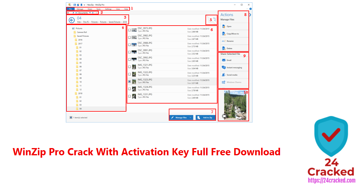 WinZip Pro Crack With Activation Key Full Free Download