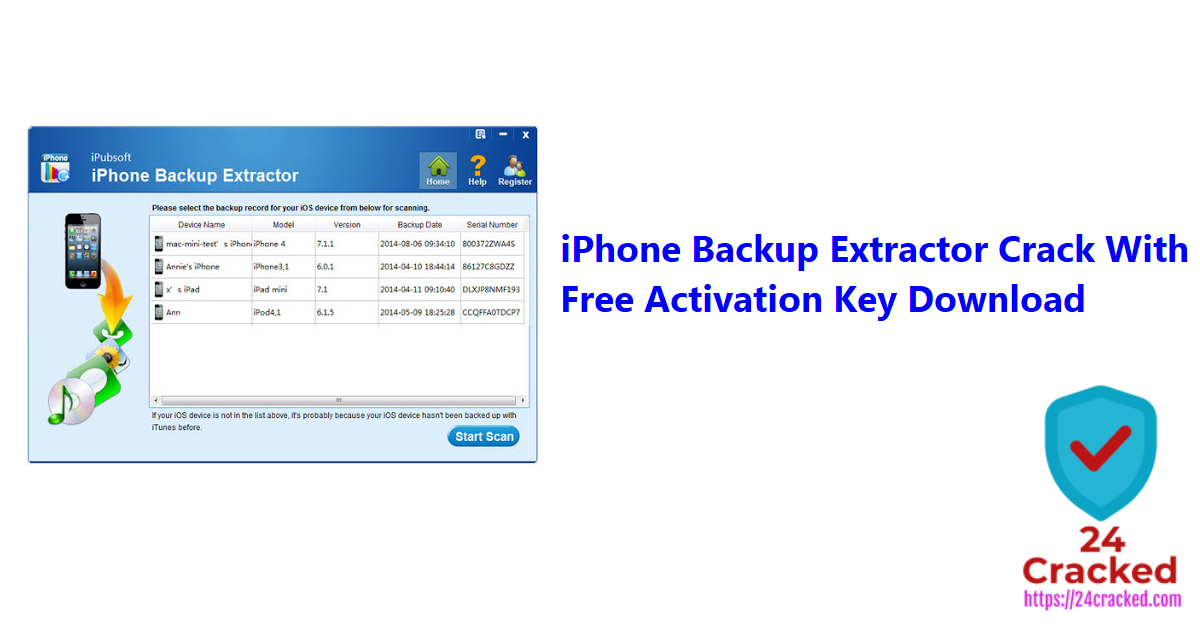 iPhone Backup Extractor Crack With Free Activation Key Download
